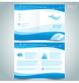 booklet catalog brochure folder airplane takeoff vector image vector image