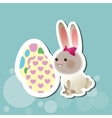 Flat about happy easter design vector image