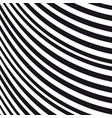 abstract wavy background black and white pattern vector image