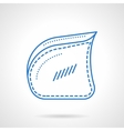 Armchair side blue flat line icon vector image