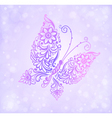 Beautiful purple butterfly flying vector image