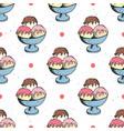ice cream seamless pattern hand drawn sketch vector image