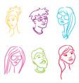 people set vector image