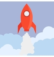 Rocket in Flat Style vector image