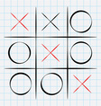 Tic tac toe game vector image
