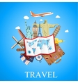 Travel by plane vector image