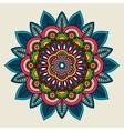 Doodle boho floral colored mandala vector image