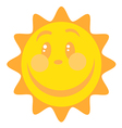 Smiling Sun Cartoon Character vector image
