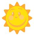 Smiling Sun Cartoon Character vector image vector image