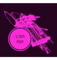 Drop paint blob design vector image