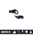 Handing money icon flat vector image