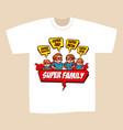 t-shirt print design superheroes family vector image