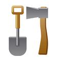 axe and shovel vector image