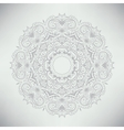 Ornamental round lace pattern vector image vector image