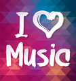 I love music Typographical Background vector image