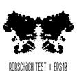 Rorschach inkblot test vector image