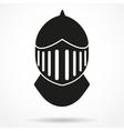 Silhouette symbol of Knights Helmet vector image