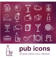 pub outline icons vector image