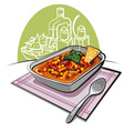 chili con carne vector image vector image
