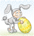 pretends to easter bunny vector image vector image