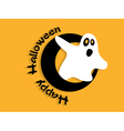 Abstract background for Halloween with ghost vector image