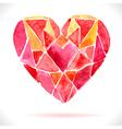 Bright color mosaic watercolor heart vector image