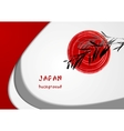 Elegant bright wavy abstract background Japanese vector image