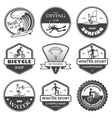 Extreme sports labels set vector image