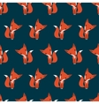 Graphically foxes in cartoon style pattern vector image