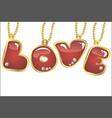 hanging word love vector image