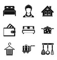housewife icon set simple style vector image