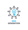 idea generation concept outline icon linear vector image