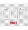 Poster Frame Mockup Set Realistic vector image