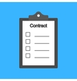 Notebook contract vector image vector image