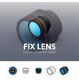 Fix lens icon in different style vector image