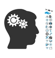 Head Wheels Rotation Icon With Copter Tools Bonus vector image