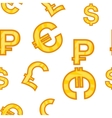 Money signs pattern cartoon style vector image