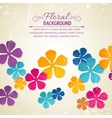 Flower backdrop vector image vector image