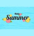 summer flowers background or summer floral design vector image
