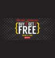 buy 2 get 1 free 5000x2000 pixel banner vector image