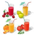 set juices vector image