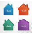 Set of colorful houses icons vector image