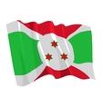 political waving flag of burundi vector image