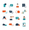 Chat Flat Icon Set vector image