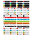 Collection of clean web buttons vector image