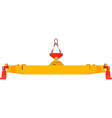 Container crane vector image