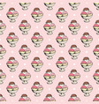 ice cream seamless pattern hand drawn sketch vector image