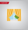 isolated curtain flat icon glass frame vector image