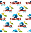 Seamless pattern Summer doodle postcard Hand vector image