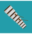 xylophone folk music instrument graphic vector image